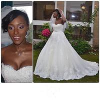 Free Shipping  Custom Made sweetheart long train crystals Wedding dress Wedding Gowns