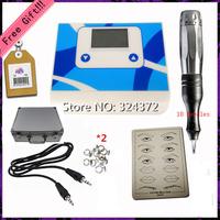 1 Set Complete Tattoo Kit Set  Digital permanent makeup machine for eyebrow lip withTattoo pen cartridge needles power supply