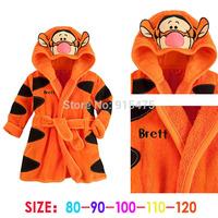 free shipping 2014 new baby girls/boys cartoon Pajamas cartoon tiger romper Bathrobes Robe kids soft Bath robes