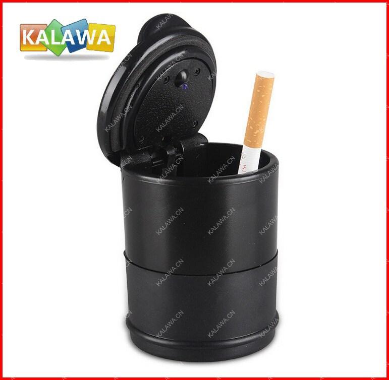 Good Quality Led Car Ashtray Portable Cigarette Holder Cup Black Freeshipping GGG(China (Mainland))