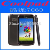 Original Cheap Coolpad 7060 4.0 inch 3G Android 4.1 Mobile Phone English SC7710 Single Core RAM 256MB ROM 512MB Dual SIM WCDMA