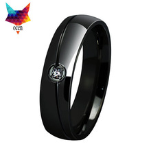minorder $10 mens jewelry black rhinestone rings stainless steel wedding ring fashion engagement ring hot sale
