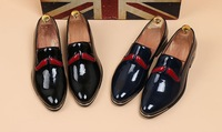 2014 Wholesale free shipping men brand loafers Leather dress shoes for winter size 38-44