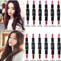 3CE brand headed lipstick lip gloss, New Arrival Waterproof Lipstick matte smooth lip stick lipgloss Long Lasting 2pcs M10021