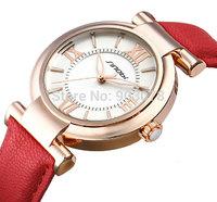 8 Colors Newest Arrival SINOBI Brand Dress Watch for Women Leather Strap Gold Ladies Wristwatch Quartz Fashion Waterproof