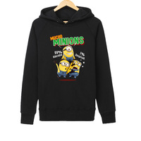 2015 new winter women /men fashion outerwear hoodies minions print 5 color women /men pullover long sleeve sweater PC014