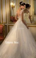 Custom Made  New Design Princess Sweetheart Lace Beading Sexy Woman Wedding Dresses vestidos de novia Free Shipping