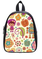 Brand New Custom High-grade PU leather Beautiful Flower Backbag Bag School Bag