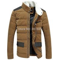 Slim White Duck Down Jacket Men Black Khaki Colors Super Deals Winter Parka Plus Size Outwear Coat  Wholesale