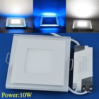Free Shipping Recessed LED Panel Light 10W AC100-265V Interior Ceiling lights 3 Modes LEDTD010