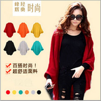 New thin/thick Womens Ladies Fashion bat knit Sweater Cardigans outerwear shawl jacket used as scarf