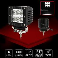 4X UTV Cree led Work Light ATV Spot Beam 30 degree SUV 4x4 24W Car Van camper 12V/24V LED Offroad Driving Light Wagon 4WD AWD