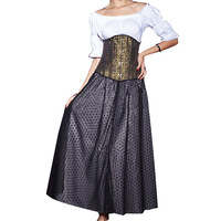 2014 New Arrive Women Sexy Corset Underbust Rivet Corset Waist Training Corset And Bustiers Gothic Corselet Steampunk Corpete