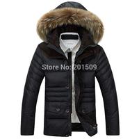 Fashion Style Short Man Coat Winter Warm Down Jacket Detachable Hats Fur Wool Tops Winter Super Warm Man's Down Jacket Best