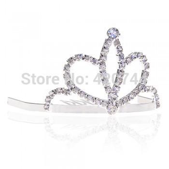 3PCS Silver Plated Rhinestone Crystal Bridal Tiara Hair Comb Pin Wedding Party(China (Mainland))