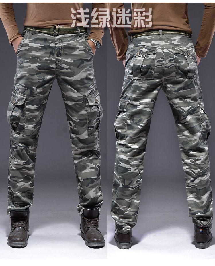 Camo Cargo Pants For Men Slim Slim Straight Pants Camo