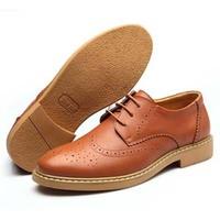 British Spring/Autumn Men Flats Basic Retro Casual Genuine Leather shoes Engraved Pattern Shoe 1 Pair Blue Black Free Shipping