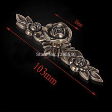 New103mm Bronze Zinc Alloy Rose Kitchen Cabinet Handle Antique Cabinet Drawer Handle&Knob Eur-Style Furniture Hardware Bar Pulls(China (Mainland))