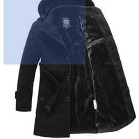 Men's winter wool woollen overcoat