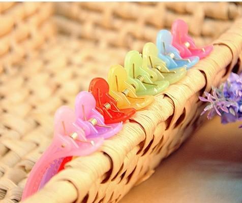 Free Shipping Wholesale 2014 Jelly Style Cute Hair Pins Plaid Design Hair Clips Barrettes Women Girls Hair Ornaments(China (Mainland))