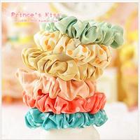 Free Shipping Fabric Small Polka Dot Headband Rubber Band Hair Accessory Candy Color Dot Hair Band Hair accessories