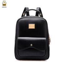 Back pack kpop fashion brand high quality solid leather women backpack stylish vintage london bolsas femininas casual school bag