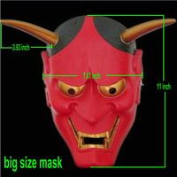 Collectibles Halloween Current resin mask Japanese Buddhist Hannya Evil theme masks red white Fashion big style Decorative prop