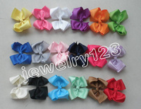 "NEW 4.5"" inch Big Ribbon Bows,Baby Girls Hair Accessories With Clip,Hot Selling Bow For Girl Baby Hairpins 18color 10pcs  HD3215"