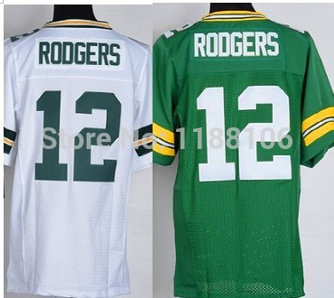 2014 american football jersey Green Bay 12 Aaron Rodgers Elite Stitched jersey, Embroidery logo Accept wholesale(China (Mainland))