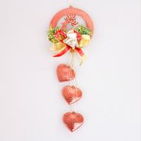 FREE SHIPPING!!!Christmas decorations, Christmas tree ornaments, Christmas deer peach heart pendant