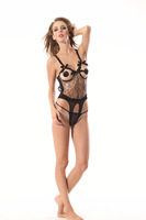 New sex products sexy costumes women sexy underwear lady BLACK sexy lingerie transparent conjoined dress suit OS208