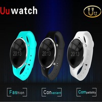 "Bluetooth Smart Watch For Android OS IOS 0.96"" OLCD Smartwatch Uu Unisex Wristwatch Remote Control Anti-lost Function"