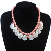 Wholesale and retail Bib necklace beaded leaves pendant necklace jewelry for women dress accessories