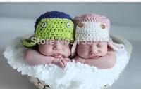 Newborn Photography Props Crochet Handmade Winter Baby Girls Hats Caps Beanies Bucket Pattern