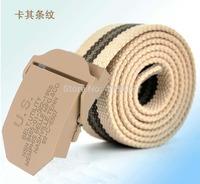 Hot sell 2014 Men Brand Canvas Belts High Quality Male Strap Military Belt Men's tTicken Canvas Belt Automatic US Buckle