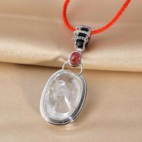 Very Thai Crystal Tourmaline + white crystal pendant jewelry girls