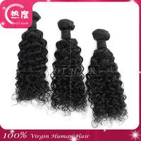 Peruvian Curly Hair 3pcs/lot  5A Grade Peruvian Virgin Hair Jerry Curly Human Hair Weave