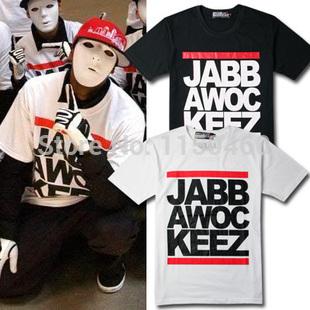 Hot sale grátis frete 2014 homem / mulher ' s Tops jabbawockeez máscara HIP HOP / R & B camisa de manga curta T preço barato popular T shirt(China (Mainland))