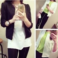 2014 New South Korean Styl autumn winter women  flowers zipper coat all-match Long-sleeved fashion short coat outwear CL127