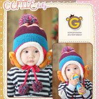 2014 New Children Windproof Hats Kids Winter Earflap Snow Hat Ear Warmer Earmuff kinted Baby Boy Hats Caps for 3-8 years