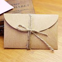 Handmade mini kraft paper envelope  5.8x9cm 200pcs/lot