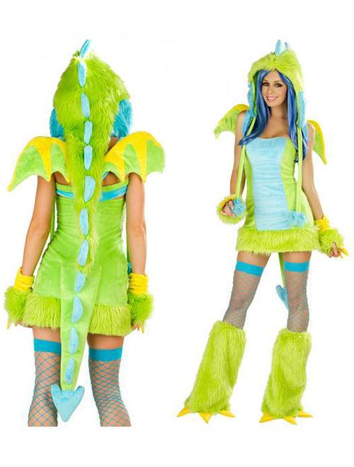 Kids Lizard Costume Fashion Women Lizard Costume