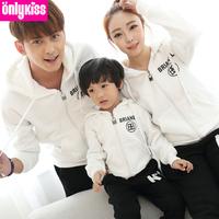 2014 new sudaderas kids brand children clothing sets baby girl / mom / boy / dad warm winter dress fleece hoodies sweater family
