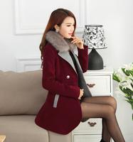 fourrure 2014 new winter coat woman wool woolen cape coat hair long coat female Korean version of Nizi
