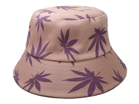 2014 Summer Hot Sale Leaves Floral Bucket Hat Bird's-eye Diaper Cap Bucket Hats Women Outdoor Fashing Cap Casual Sun Hat Goldtop