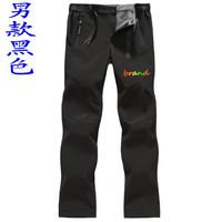 brand 2014 winter fashion soft shell fleece men's leisure sports pants outdoor waterproof windproof breathable climbing trousers