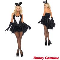 Hot Bunny Girl Rabbit Costumes Women Cosplay Sexy Halloween Adult Animal Costume Fancy Dress Clubwear Party Wear Plus Size M XL