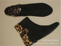 Stiv Med. 2014 European and American big new Martin boots Jurchen Pima hair leopard black stiv meden  SM boot