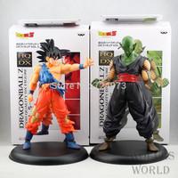 """2 pieces 1 lot Japan anime Goku Sun+Piccolo Dragon Ball Z DBZ action figures,Super Saiyan 20cm 7.8"""" toys for collection"""