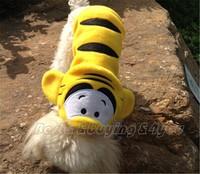 Hot Winter Pet Puppy Dog Coat Hoodie Apparel Warm Clothes Tiger Costumes P-0008
